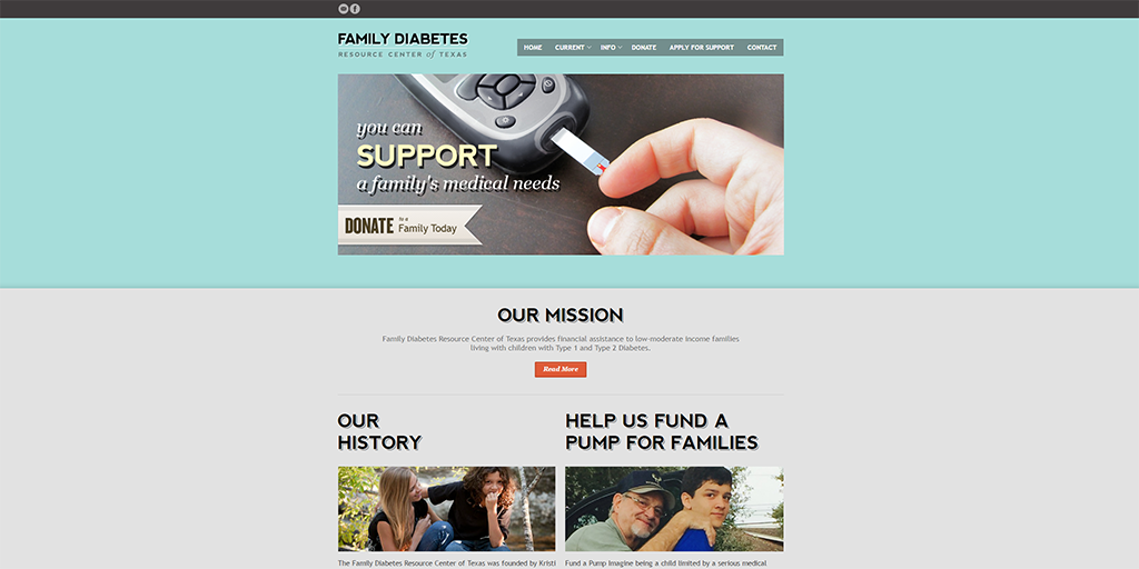 familydiabetesrctx.com website image