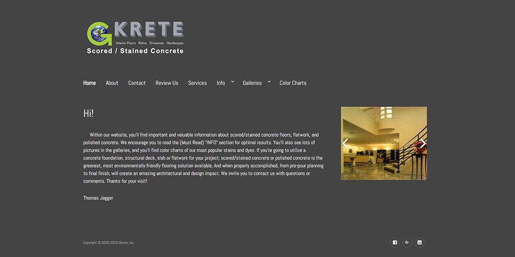 gkrete.com website image