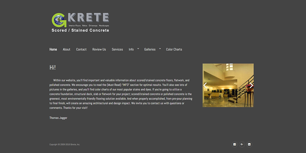 gkrete.com website image